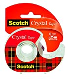 Scotch 6-1925D Handabroller inklusive 1 Rolle Crystal Klebeband, 19 mm x 25 m, hochtransparent