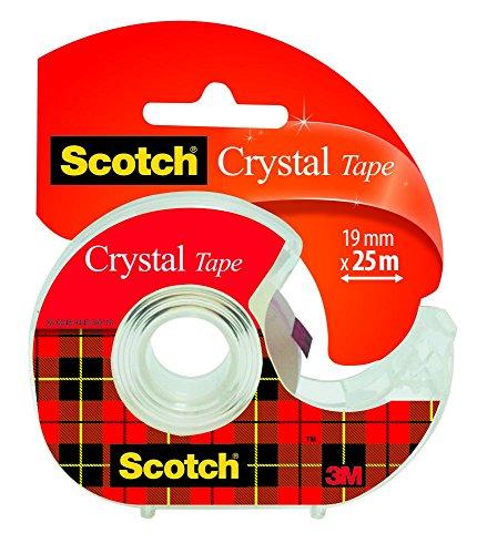 Scotch 6-1925D - Rollo de cinta adhesiva con dispensador (19 mm x 25 m, 1 unidad), transparente