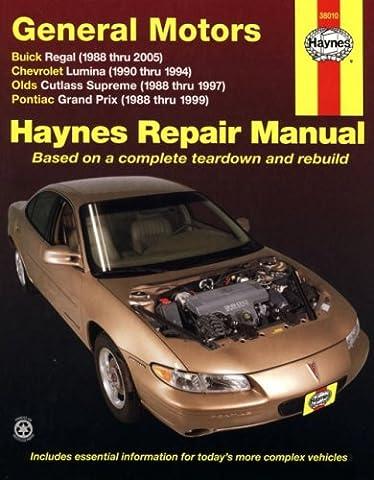 General Motors Automotive Repair Manual: Buick Regal, Chevrolet Lumina, Olds