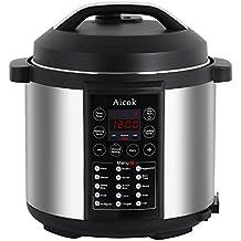 Aicok Autocuiseur Electrique Programmable 7-en-1 Entièrement Automatique, Multi-fonctions, 6 L/1000W
