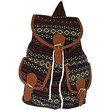 53bcbbaf11c61 Rucksack Stoff Bunt Backpack Stoffrucksack Modisch Damen Vintage Outdoor  Freizeit NEU