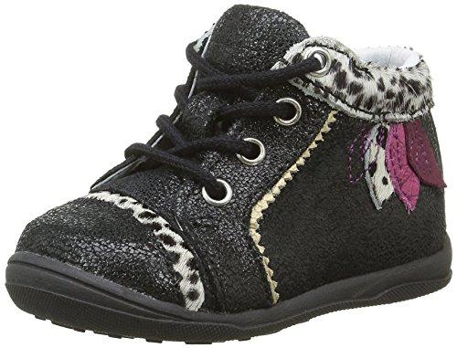 Catimini Alouette, Chaussures Premiers Pas Bébé Fille, Noir (21 Nub Noir/Léopard Dpf/Gluck), 22 EU