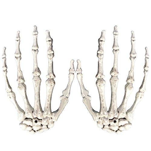 Halloween Skeleton Hände Leben Größe Hände für Halloween Dekoration (Leben Größe Skelett Halloween)
