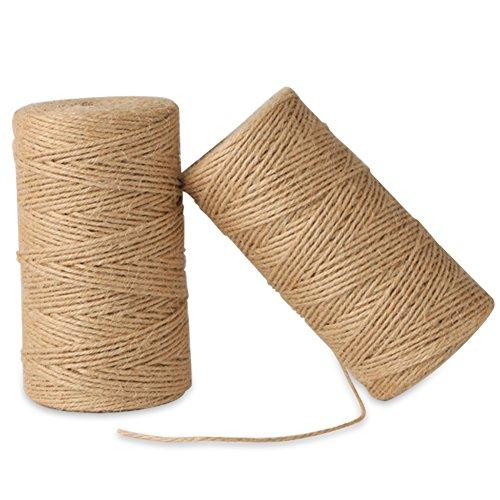 toaob 40m Natürliche Farbe und Farbe Seil als Baker, Garten, DIY oder Geschenk Verpackung natur