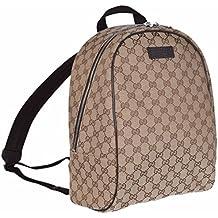 9e7e739d32 Gucci GG Guccissima zaino borsa da viaggio (beige/marrone)