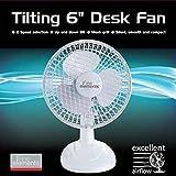 Fine Elements 6 Inch White Desk Fan