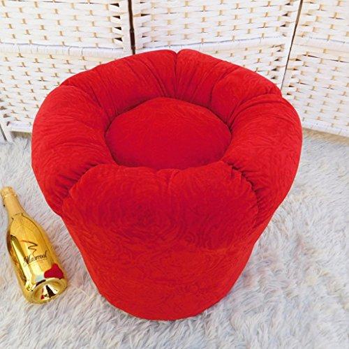 ALUK- Kürbis Piers Couchtisch Hocker Pier Versuchen Schuhe zu Wechseln Hocker Art und Weise kreativer Tuch Sofa Kleine Hocker (Farbe : Rot)