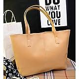 Bluester Fashion Handbag Lady Shoulder Bag Tote Purse Leather Women Messenger (Khaki)