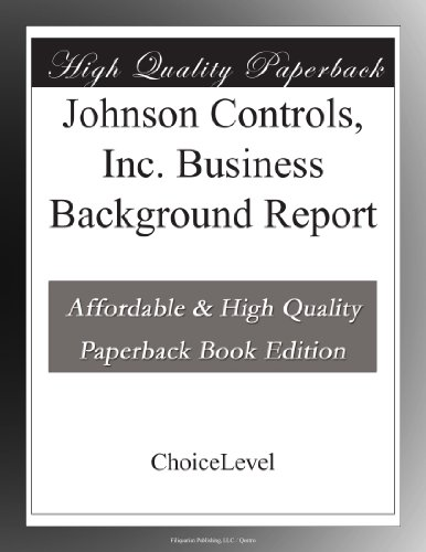 johnson-controls-inc-business-background-report