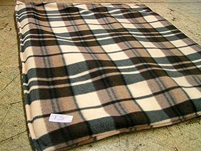 KosiPet® Luxury FLEECE Pet Dog Cat Bed Mat With Fibre Pad (LARGE, CREAM CHECK)