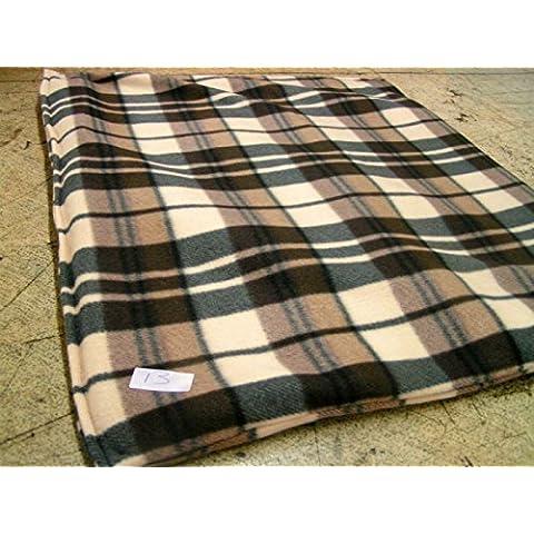 KosiPet® Lusso PILE Cucciolo Cane Gatto Bed TAPPETINO Con Fibra IMBOTTITURA - Panna a scacchi, M
