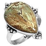 Naturale Australiano Variscite Pietra preziosa Elegante Gioielli Solido 925 Sterling Argento Anello Dimensioni 22.75
