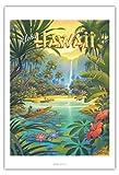 Pacifica Island Art Aloha Hawaii - Vintage Retro Hawaii Reise Plakat Poster von Kerne Erickson - Kunstdruck - 76cm x 112cm