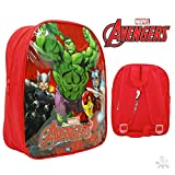 Brand New Avenger 12inch Backpack Rucksack Hulk Iron Man Thor Red Bag