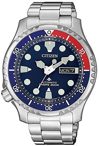 Citizen promaster diver 200 mt automatico ny0086-83l orologio da polso uomo blu rosso
