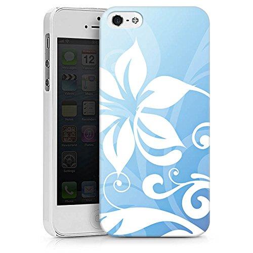 Apple iPhone X Silikon Hülle Case Schutzhülle Blume Ornament Floral Hard Case weiß