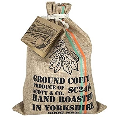 New Ground Coffee Set - Your Coffee Set Contains 10 Different Around The World Coffees Which are Hand Roasted in The UK. They are Hand Stamped, Complete with Info Booklet for an Ideal Gift, Present. by Scott & Co