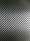 3D Klebefolie Kohlefaser Vinyl Sticker Für Auto Motorrad Fahrrad Schwartz 4 X A4