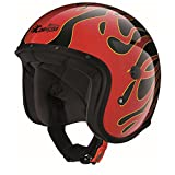 Caberg FREERIDE FLAME Motorrad Jethelm Tricomposite - schwarz rot Größe M
