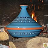 Tajine Marrakesch Blau – D 31 cm Traditionell
