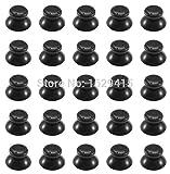 IVYUEEN 100 pcs Black Thumbsticks Thumb Joystick Stick Mushroom Caps Grip Cover for Microsoft Xbox 360 Controller Wireless