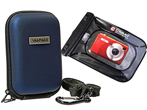 Foto Tasche Kamera Hardcase HC20 Set mit Unterwasserbeutel für Canon Ixus 220 285 275 265 255 185 180 175 155 150 Sony DSC- WX500 WX350 WX220