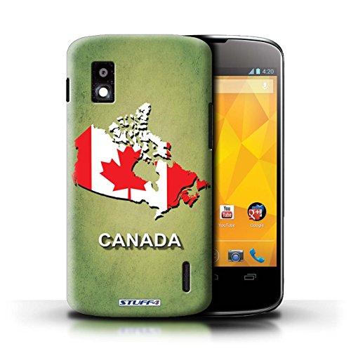 Kobalt® Imprimé Etui / Coque pour LG Nexus 4/E960 / Suisse/Swiss conception / Série Drapeau Pays Canada