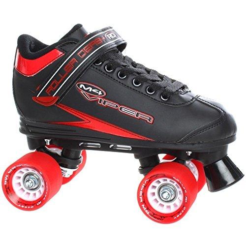 Roller Viper (Roller Derby Viper M4 schwarz rot s Speed Quad Skate 6 UK / 39 EU / 7 US)