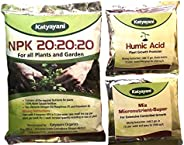katyayani Water Soluble NPK 20 20 20 Fertilizer Complete Plant Food for Plants (500 g) with 2 Sample -Mix micr