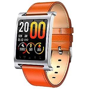 Chenang Smartwatch zur Herzfrequenz-und Fitnessaufzeichnung, Intelligent Fitness Uhr Blutdruckmesser Bluetooth Farbbildschirm Smart Watch für Damen Kinder Herren