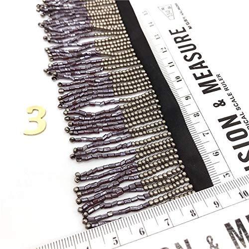 Vorhang Kostüm Auf - AiCheaX Spitzen basteln - 1M Perlen Fransen dekorative Polster Ribbon Vorhang Kostüm Dekor Bastelbedarf - (Farbe: 3)
