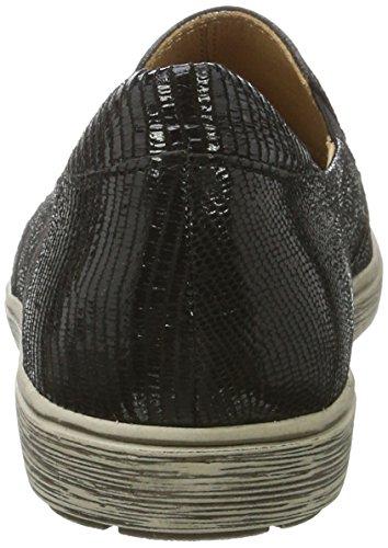 Caprice 24663, Mocassins Femme Noir (Black Reptile)