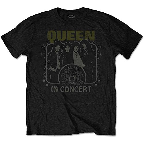 Queen Live in Concert Bohemian Rhapsody Rock Offiziell Männer T-Shirt Herren (XX-Large)