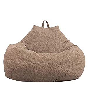 Große Sitzsackhülle,Gesundheit Material faul Sofa Sitzsackhülle Kleines Sofa Bbequemes Premium Sitzsackhülle aus Leinen…
