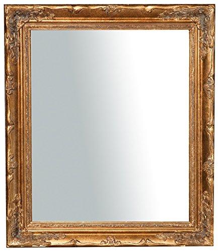 Specchio Specchiera da Parete con Cornice 64x4x74 cm Finitura Oro Anticato da Appendere Verticale/Orizzontale
