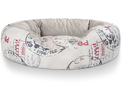 Knuffelwuff-Cuddly-Dog-Bed-with-Two-Functions-Large-80-x-80-cm-Red