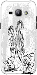 Snoogg Sketch Of Horses Running Solid Snap On - Back Cover All Around Protect...