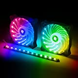 SPIRIT OF GAMER Kit Ventilateurs 120 mm RGB + Barre LED RGB AIRLIGHT avec Télécommande: Le kit Ultime pour customiser Votre Setup !!!