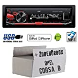 Opel Corsa B - JVC KD-X230E - MP3 USB Autoradio - Einbauset