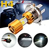 #5: AllExtreme Golden Missile High Low Beam H4 Bike Bulb Motorcycle LED Headlight Bulb