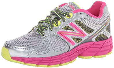 New Balance Unisex-Child Running Shoes KJ860GW Grey/Pink 1 UK Child, 33 EU