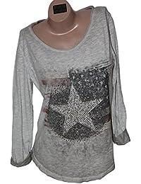 Shirt Longshirt Longsleeve Stars and Stripes Nieten Vintage