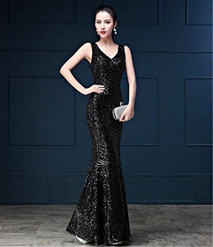 Drasawee - Robe - Moulante - Femme Noir - Noir