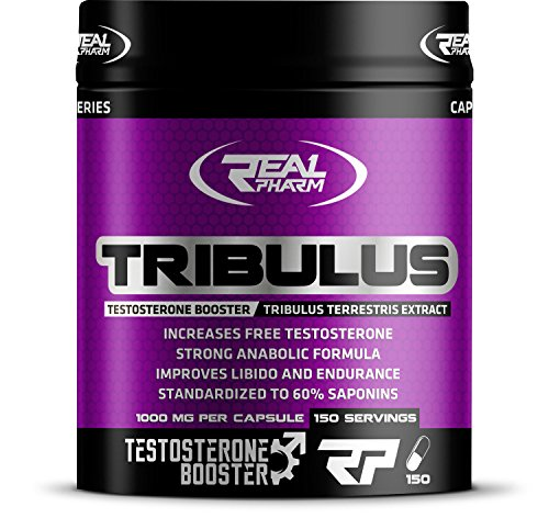 Real Pharm Tribulus Testosteron Booster Erd-Burzeldorn Tribulus Terrestris - 150 Kapseln