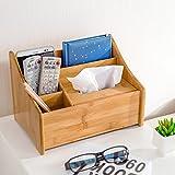 Holz Desktop-Tisch Schreibwaren-Racks Business-Karte Stift Bleistift Handy-Remote-Organiser Cosmetic Schmuck Lagerung Trümmer Schreibtisch Zubehör Finishing Box Home