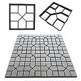 Stampo per pavimentazione, circa 43 cm x 43cm, modello di plastica per pavimentazione in cemento, mattoni, pietra, stampo fai-da-te