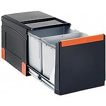 Franke Sorter Cube 41 - Sistema de separación de residuos, apertura automática, 2 contenedores de 18 L