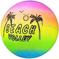 SUPEWOLD Arcoiris Playa Voleibol Bola, PVC Material, Hinchable Goma Pelota de Playa, Verano Piscina Natación Hinchable Voleibol para Niños - 20cm Height
