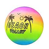 EMVANV Beach Volleyball Aufblasbarer Ball Pool Schwimmen Gummi Regenbogen Garten Spiel Volleyball Netz Kinder Spielzeug