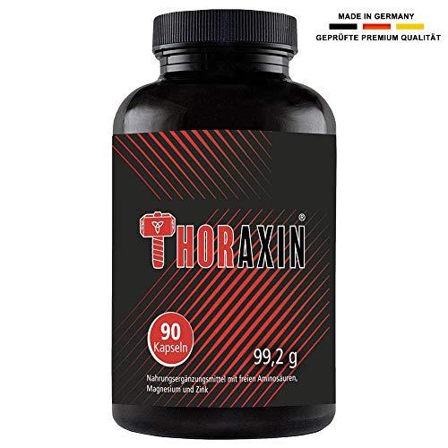 THORAXIN - Hochdosierte Muskelaufbau Kapseln Booster I L-Arginin + BCAA hochdosiert I Bodybuilding Nahrungsergänzungsmittel Fatburner I Aminosäuren Komplex (90 Pillen)
